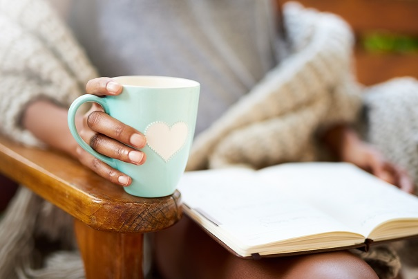 Enjoy a cuppa and a good book