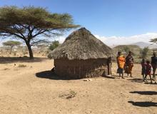 Rural village in East Africa
