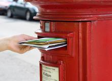 Post box and letters