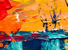 Abstract painting showing creativity